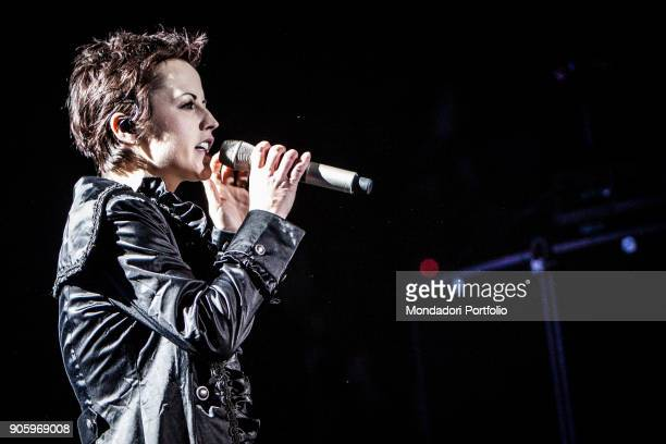 Irish singer Dolores O'Riordan performs at Mediolanum Forum with The Cranberries Assago March 16th 2010