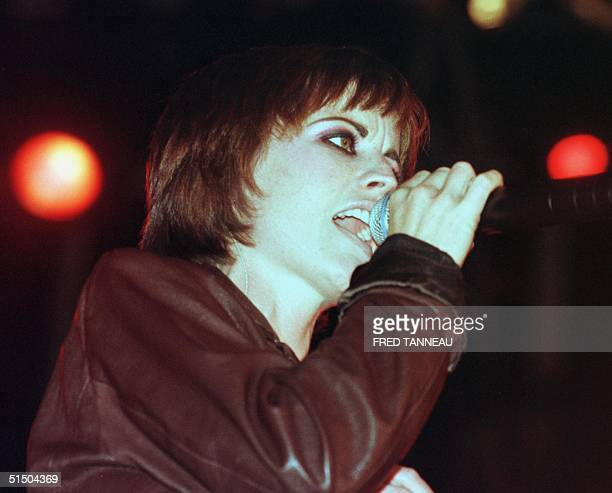 Irish singer Dolores O'riordan performs with her group The Cranberries during the opening of the 9th festival of Vieilles Charrues 21 July 2000 in...