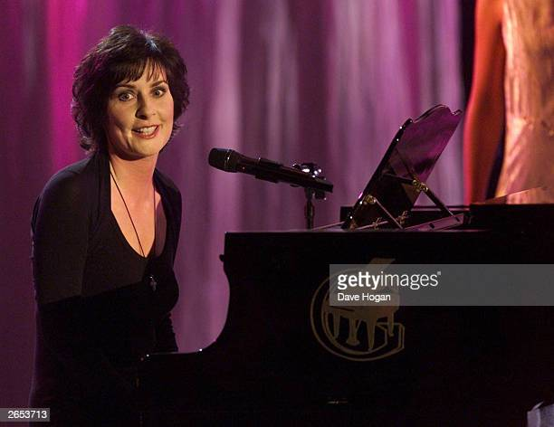 Irish singer Enya performs on stage at the World Music Awards on March 26 2001 in Monte Carlo Monaco