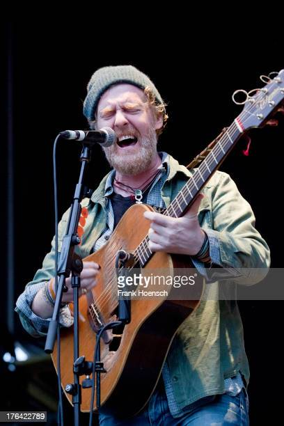 Irish singer Glen Hansard performs live during a concert at the Zitadelle Spandau on August 12 2013 in Berlin Germany