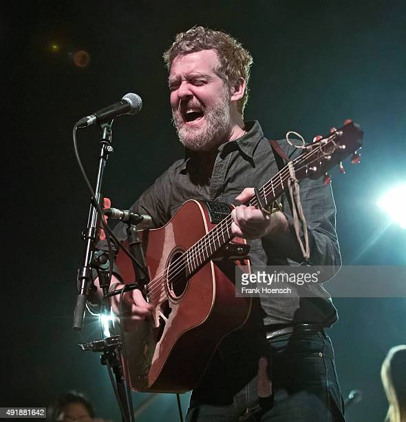 Irish singer Glen Hansard performs live during a concert at the Admiralspalast on October 8 2015 in Berlin Germany