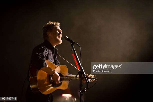 Irish singer Glen Hansard performs live on stage during a concert at the Admiralspalast on February 20 2018 in Berlin Germany