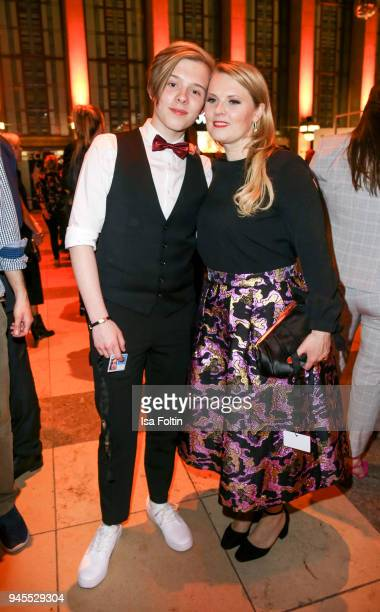 Irish singer Iggi Kelly and her mother Irish singer Patricia Kelly during the Echo Award after show party at Palais am Funkturm on April 12 2018 in...