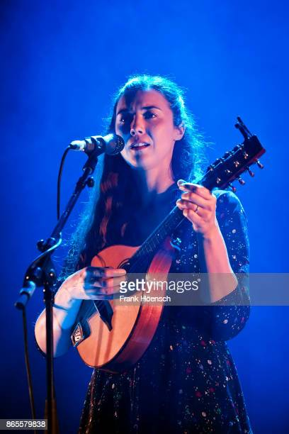 Irish singer Lisa Hannigan performs live on stage in support of The National during a concert at the Tempodrom on October 23, 2017 in Berlin, Germany.