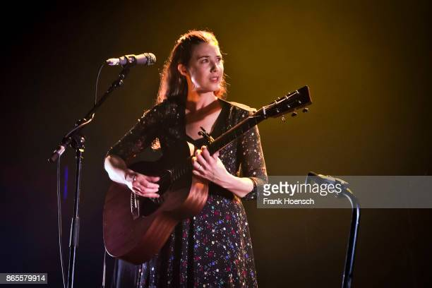 Irish singer Lisa Hannigan performs live on stage in support of The National during a concert at the Tempodrom on October 23 2017 in Berlin Germany