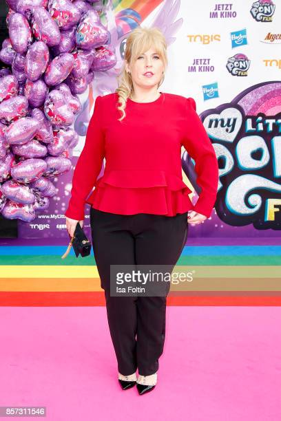 Irish singer Maite Kelly attends the 'My little Pony' Premiere at Zoo Palast on October 3 2017 in Berlin Germany