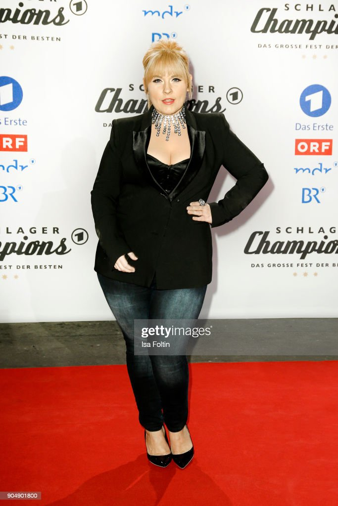 Irish singer Maite Kelly attends the 'Schlagerchampions - Das grosse Fest der Besten' TV Show at Velodrom on January 13, 2018 in Berlin, Germany.