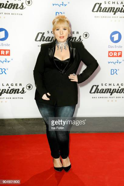 Irish singer Maite Kelly attends the 'Schlagerchampions - Das grosse Fest der Besten' TV Show at Velodrom on January 13, 2018 in Berlin, Germany.