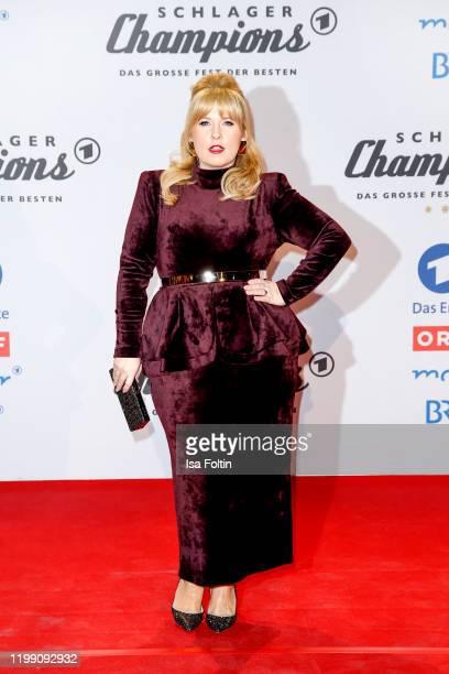 "Irish singer Maite Kelly during the television show ""Schlagerchampions - Das grosse Fest der Besten"" at Velodrom on January 11, 2020 in Berlin,..."