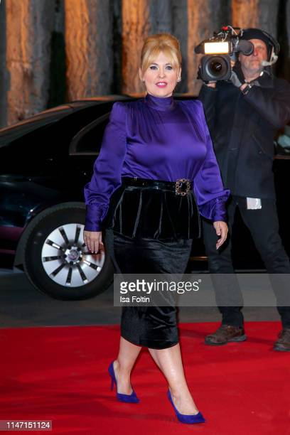 Irish singer Maite Kelly during the television show 'Willkommen bei Carmen Nebel' at Velodrom on May 4, 2019 in Berlin, Germany.