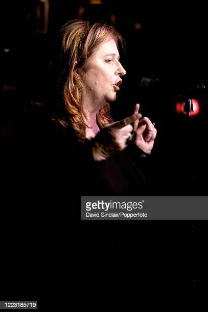 Irish singer Mary Coughlan performs live on stage at Ronnie Scott's Jazz Club in Soho, London on 13th October 2010.