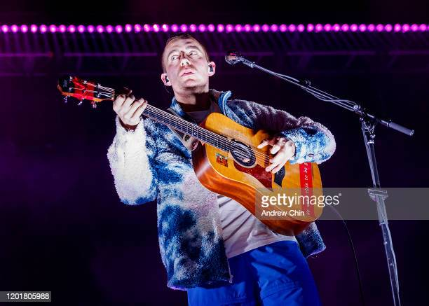 Irish singersongwriter Dermot Kennedy performs on stage at Doug Mitchell Thunderbird Sports Centre on January 24 2020 in Vancouver Canada