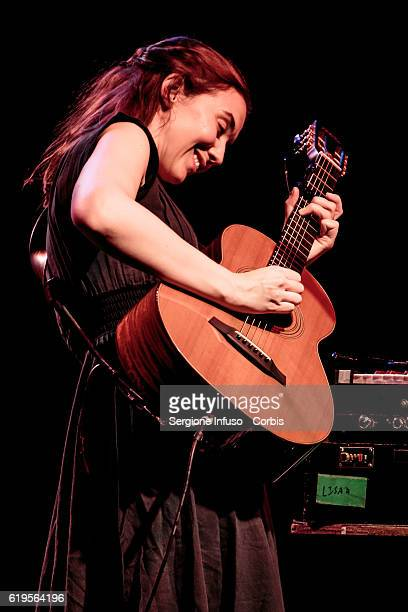 Irish singersongwriter Lisa Hannigan performs on stage on October 30 2016 in Milan Italy