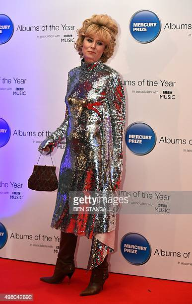 Irish singersongwriter Roisin Murphy poses on arrival for the 2015 Mercury Music prize awards ceremony in central London on November 20 2015 The...