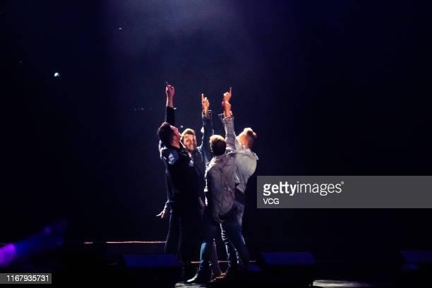 Irish singer/songwriter Shane Filan, Irish singer/songwriter Markus Feehily , Irish singer/multi-instrumentalist/songwriter Kian Egan and Irish...