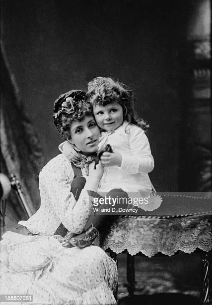 Irish socialite Mary CornwallisWest with a young girl probably one of her daughters circa 1880 CornwallisWest became mistress of the Prince of Wales...