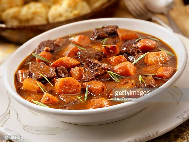 irish stew with biscuits - root vegetable stock pictures, royalty-free photos & images