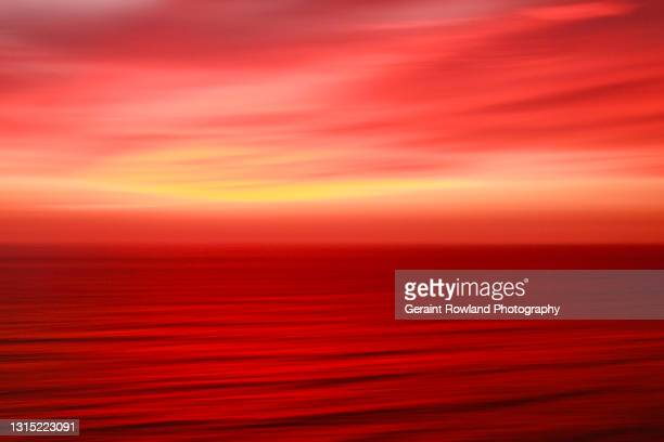 irish sunset abstract - geraint rowland stock pictures, royalty-free photos & images