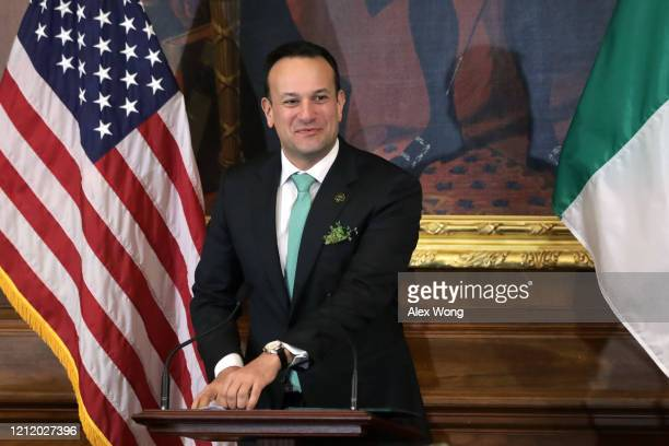 Irish Taoiseach Leo Varadkar speaks during the annual Friends of Ireland luncheon at the Rayburn Room of US Capitol March 12 2020 in Washington DC...