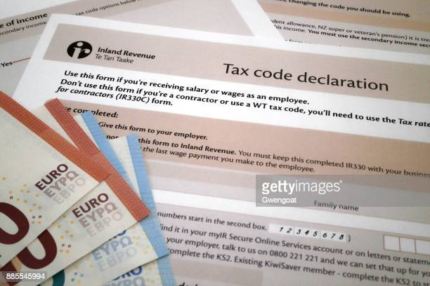 irish tax code declaration - gwengoat stock pictures, royalty-free photos & images