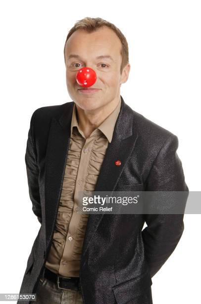 Irish television and radio presenter, comedian, actor, author, and commentator Graham Norton, wearing a Red Nose Day nose for Red Nose Day 2009, in...