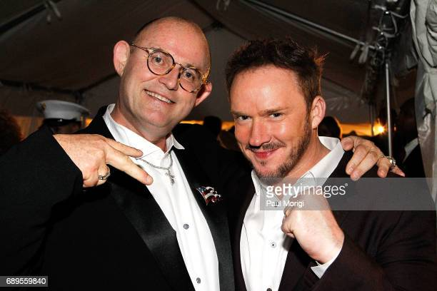 Irish Tenor Ronan Tynan and crossover artist Russell Watson backstage at PBS' 2017 National Memorial Day Concert at US Capitol West Lawn on May 28...