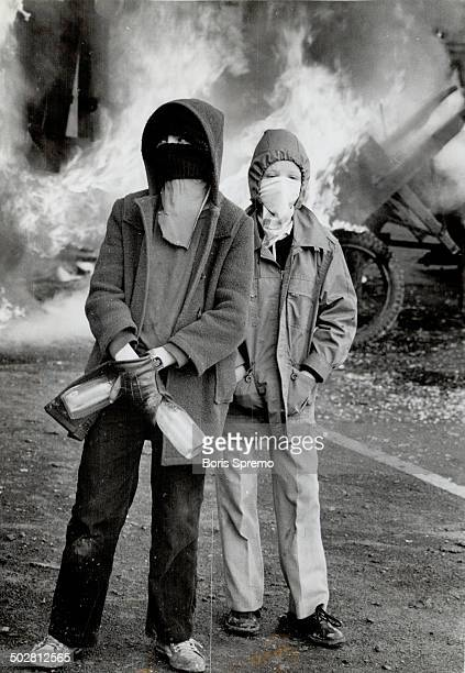 Irish terrorists Boys with gasoline bombs wait to attack police cars in Belfast The Irish Republican Army which falls into the nationalist category...