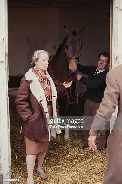 Irish thoroughbred racehorse Arkle pictured with owner Anne Grosvenor Duchess of Westminster during a period of recovery after fracturing a pedal...
