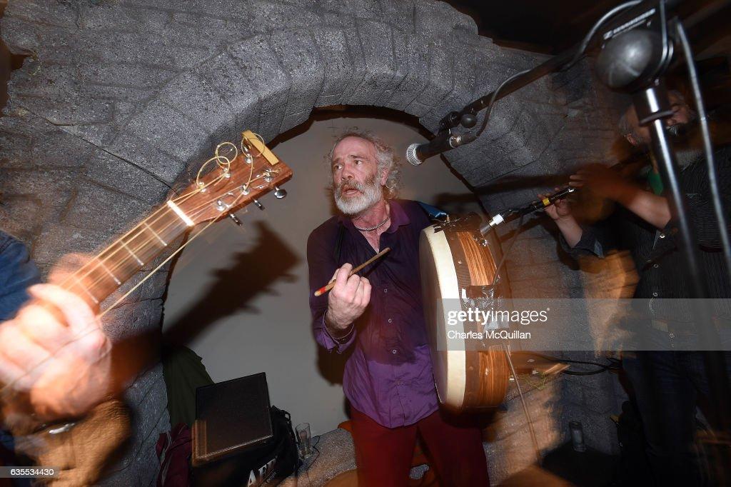 Irish traditional music band Kila perform in the Irish