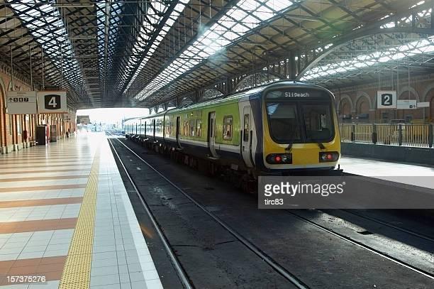 Irish train station platform