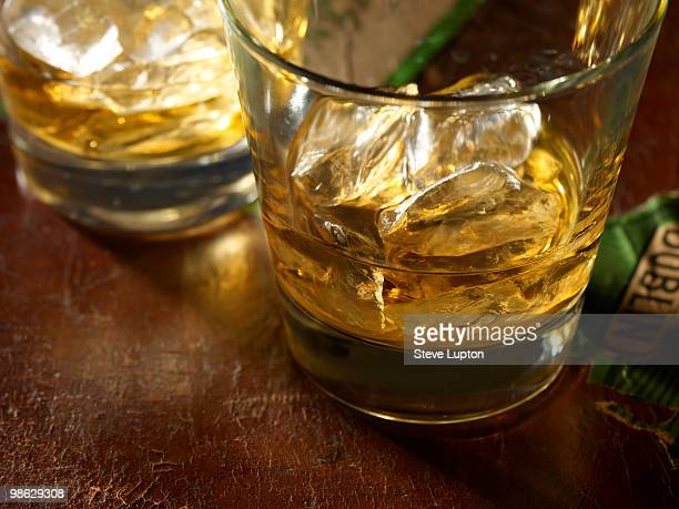 irish whiskey with ice - irish culture stock pictures, royalty-free photos & images