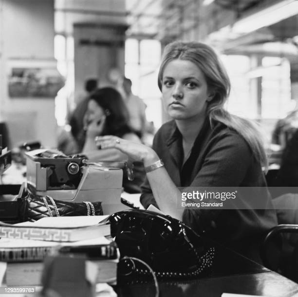 Irish writer and broadcaster Polly Devlin, a columnist for the Evening Standard, UK, July 1967.