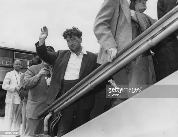 Irish writer Brendan Behan leaves London Airport bound for Ireland 11th July 1959 He had just been fined for public drunkenness