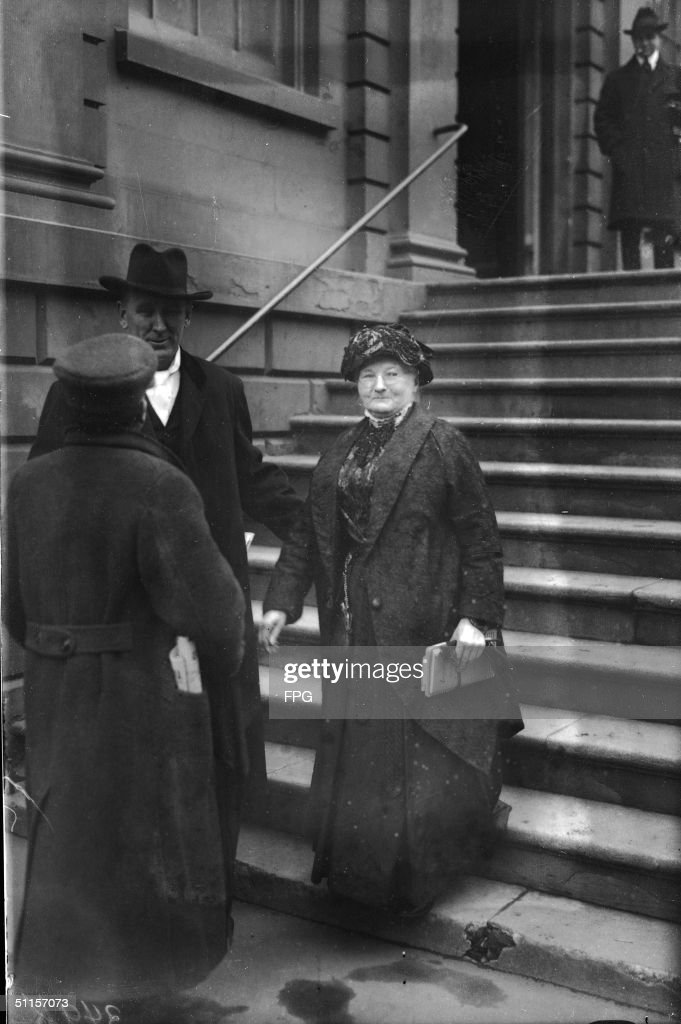 Mother Jones On Staircase : News Photo