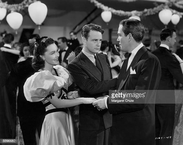 Irishborn leading lady Maureen O'Sullivan stars with American actors Lew Ayres and Truman Bradley in the collegiate romp 'Spring Madness' directed by...