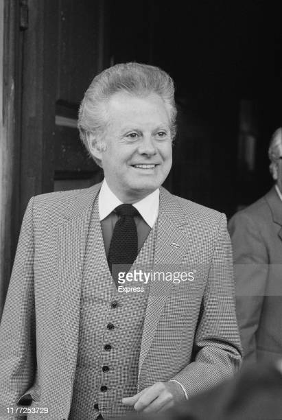 IrishEnglish singer and entertainer Danny La Rue attends a memorial service for comedian Tommy Cooper at St MartinintheFields London UK 19th July 1984