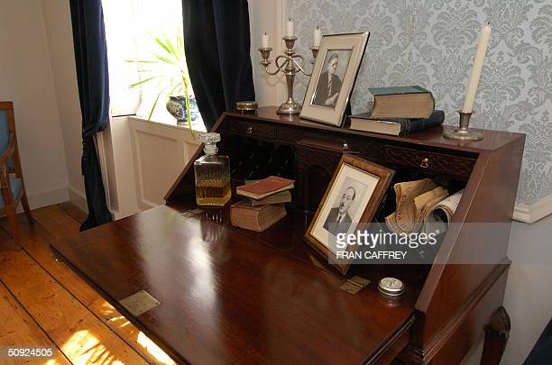 Irishman James Joyce author one of Dublin's most famous literary masterpieces 'Ulysses' worked at this desk seen 15 May 2004 in the James Joyce...