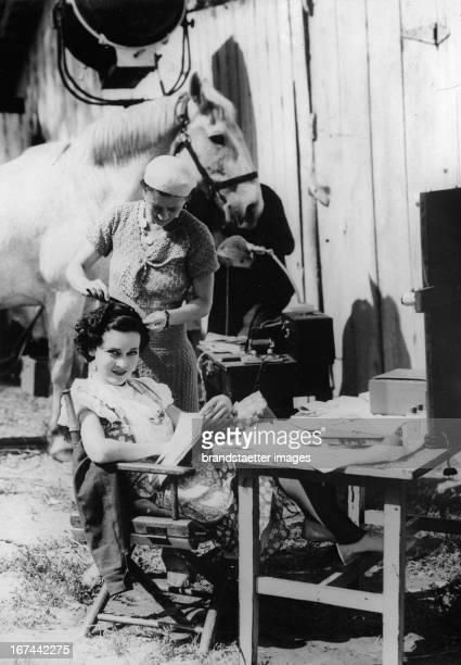 Irish-US-american actress Maureen Paula OSullivan. About 1933. Photograph. Die irisch-amerikanische Schauspielerin Maureen Paula OSullivan. Um 1933....