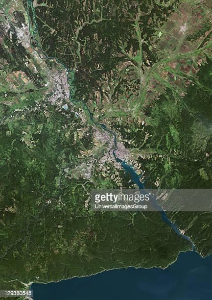 Irkoutsk Russia True colour satellite image of the city of Irkoutsk taken on 22 July 2002 using LANDSAT 7 data Irkoutsk Russia True Colour Satellite...