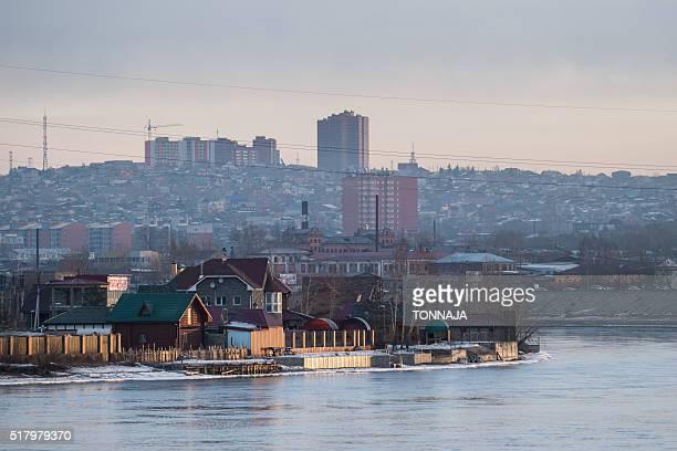 Irkutsk city and Irkut river
