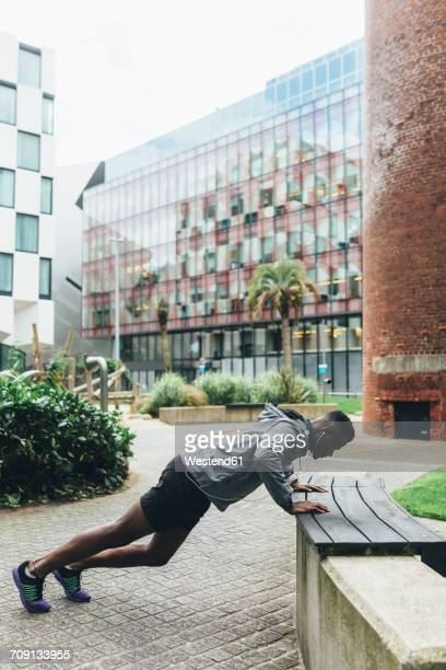Irlenad, Dublin, young man exercising in the city