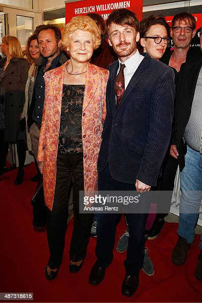 Irm Hermann and Bastian Trost attend the 'Die Erfindung der Liebe' Cologne Premiere at Odeon Lichtspieltheater on April 29 2014 in Cologne Germany