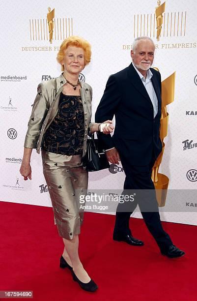 Irm Hermann and Dietmar Roberg attend the Lola German Film Award 2013 at Friedrichstadtpalast at FriedrichstadtPalast on April 26 2013 in Berlin...