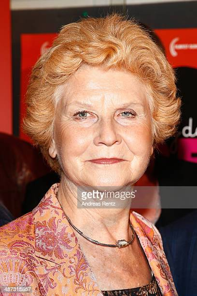 Irm Hermann attends the 'Die Erfindung der Liebe' Cologne Premiere at Odeon Lichtspieltheater on April 29 2014 in Cologne Germany