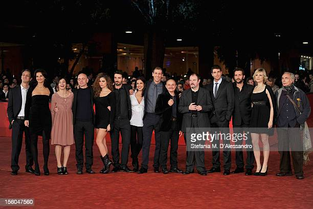 Irma Carolina Di Monte Veronica Gentili Carlo Lucarelli Sara Sartini Laura Glavan and cast attend the L'Isola Dell'Angelo Caduto Premiere during the...