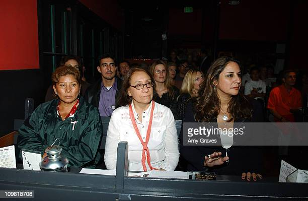 Irma Monreal Jaime mother of victim Diana Washington Valdez Journalist and author of 'Harvest of Women' and Bonnie Abaunza Director of Artists for...