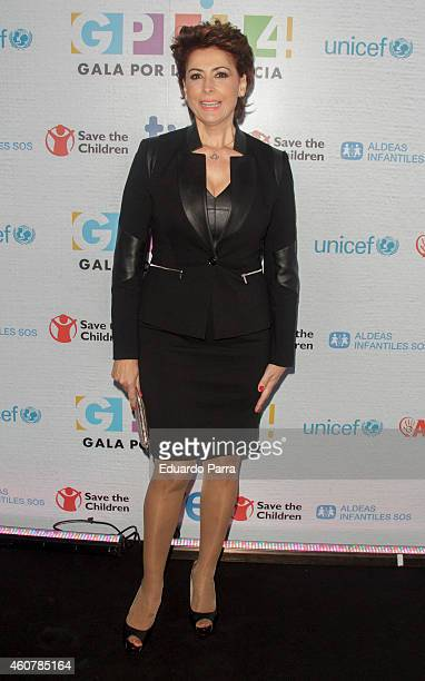 Irma Soriano attends the Gala for Children photocall at Magarinos sports center on December 22 2014 in Madrid Spain
