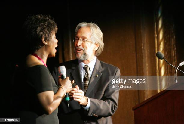 Irma Thomas and Neil Portnow during 8th Annual Music on Film Preservation Project New Orleans Rising at Wilshire Ebell Theater in Los Angeles...