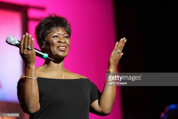 Irma Thomas during 8th Annual Music on Film Preservation Project New Orleans Rising at Wilshire Ebell Theater in Los Angeles California United States