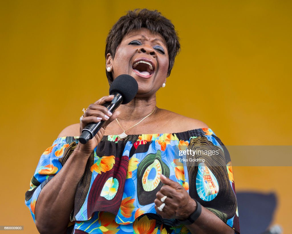 Irma Thomas performs at the 2017 New Orleans Jazz & Heritage Festival at Fair Grounds Race Course on May 6, 2017 in New Orleans, Louisiana.